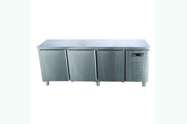 TPS-63-WOBS Tezgah Tip 3 Kapılı Snack Buzdolabı Sırtsız